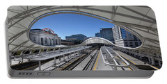 Portable Battery Charger featuring the photograph The Denver Union Station by Tim Stanley