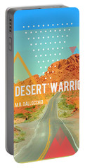 The Desert Warrior Book Cover Portable Battery Charger