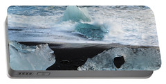 Portable Battery Charger featuring the photograph The Diamond Beach, Jokulsarlon, Iceland by Dubi Roman