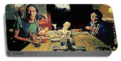The Dinner Scene - Texas Chainsaw Portable Battery Charger by Taylan Apukovska