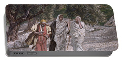 The Disciples On The Road To Emmaus Portable Battery Charger
