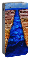 Portable Battery Charger featuring the photograph The Divide by Paul Wear