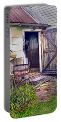 The Door Is Always Open Portable Battery Charger by Nancy Griswold