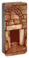Portable Battery Charger featuring the painting The Door Of Humility At The Church Of The Nativity Bethlehem by Georgeta Blanaru