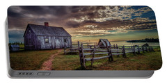 Portable Battery Charger featuring the photograph The Doucet House by Chris Bordeleau