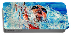 Portable Battery Charger featuring the painting The Dream Becomes Reality by Hanne Lore Koehler
