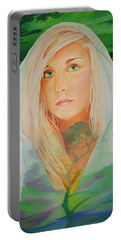 Portable Battery Charger featuring the painting The Dreaming Tree by Joshua Morton