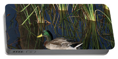 The Duck On The Pond At Papago Park Portable Battery Charger