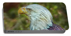 Portable Battery Charger featuring the photograph The Eagle Look by Hanny Heim