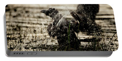 The Eastern Jungle Crow Corvus Macrorhynchos Levaillantii Portable Battery Charger