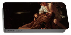 The Ecstacy Of Saint Francis Of Assisi Portable Battery Charger