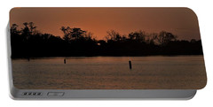 Portable Battery Charger featuring the photograph The Edge Of Night by John Glass