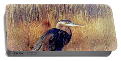 Portable Battery Charger featuring the photograph The Egret by Allen Beilschmidt