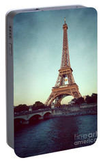 Portable Battery Charger featuring the photograph The Eifeltower by Hannes Cmarits