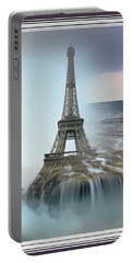 The Eiffel Tower In Montage Portable Battery Charger