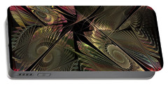 Portable Battery Charger featuring the digital art The Elementals - Calling The Corners by NirvanaBlues