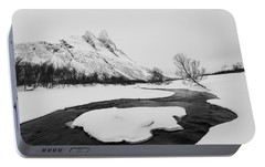 Portable Battery Charger featuring the photograph The Elements Of Winter by Alex Lapidus