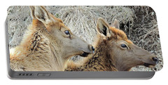 The Elk Of Winter  Portable Battery Charger