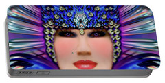 Portable Battery Charger featuring the photograph The Empress Barbaka #192 by Barbara Tristan