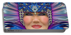 Portable Battery Charger featuring the photograph The Empress by Barbara Tristan