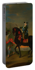Portable Battery Charger featuring the painting The Empress Elizabeth Of Russia by Georg Grooth