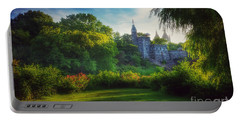 Portable Battery Charger featuring the photograph The Enchanted Land - Central Park In Summer by Miriam Danar