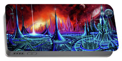 Portable Battery Charger featuring the painting The Enneanoveum by James Christopher Hill