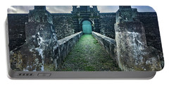 The Entrance To Fortress Of Sao Joao Baptista On Monte Brasil Portable Battery Charger