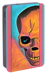 Portable Battery Charger featuring the digital art The Eye Of Death Abstract Skull by Floyd Snyder