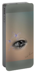 The Eyes Don't Lie Portable Battery Charger by Vennie Kocsis