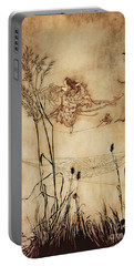 The Fairy's Tightrope From Peter Pan In Kensington Gardens Portable Battery Charger by Arthur Rackham
