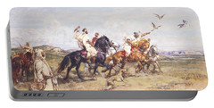 The Falcon Chase Portable Battery Charger by Henri Emilien Rousseau