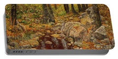 The Fall Stream Portable Battery Charger by Roena King