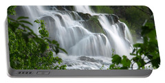 Portable Battery Charger featuring the photograph The Falls by DeeLon Merritt