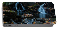 The Falls Of Black Creek In Autumn IIi Portable Battery Charger