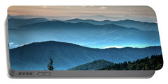 The Far Blue Smoky Mtns. Portable Battery Charger