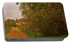 Portable Battery Charger featuring the photograph The Farm In Autumn by Anne Kotan
