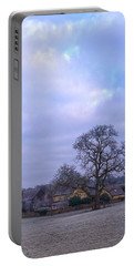 Portable Battery Charger featuring the photograph The Farm In Winter by Anne Kotan