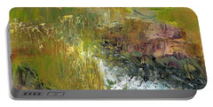 Portable Battery Charger featuring the painting The Farmers Ditch Fall by Frances Marino