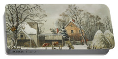 The Farmers Home  Winter, 1863 Portable Battery Charger