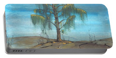 Portable Battery Charger featuring the painting The Feather Tree by Pat Purdy