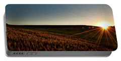 Portable Battery Charger featuring the photograph The Field Of Gold by Mark Dodd
