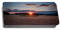 Portable Battery Charger featuring the photograph The Fields At Sunset by Mark Dodd