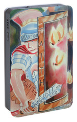 Portable Battery Charger featuring the painting The Fiery Darts Of The Evil One 2 by Kip DeVore