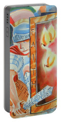 Portable Battery Charger featuring the painting The Fiery Darts Of The Evil One 3 by Kip DeVore