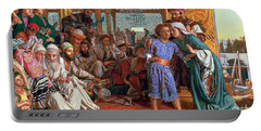 The Finding Of The Savior In The Temple Portable Battery Charger
