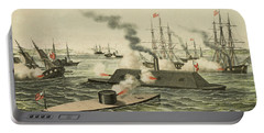 The First Battle Between Iron Ships Of War Portable Battery Charger