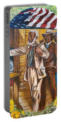 Historical  Artwork     First Vote - 1867 Portable Battery Charger