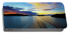 The Fjords Of Kristansand, Norway At Sunset Portable Battery Charger by Allan Levin