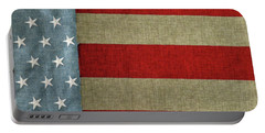 Portable Battery Charger featuring the photograph The Flag by Tom Prendergast